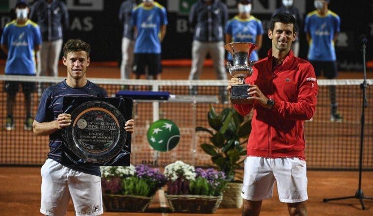Schwartzman: «Djokovic tem muitas finais nas costas e sabe como jogá-las»