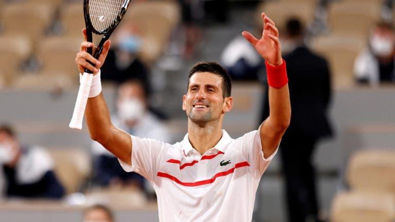Djokovic e o GOAT: «A maioria diz que os Grand Slams e as semanas no topo são fundamentais»