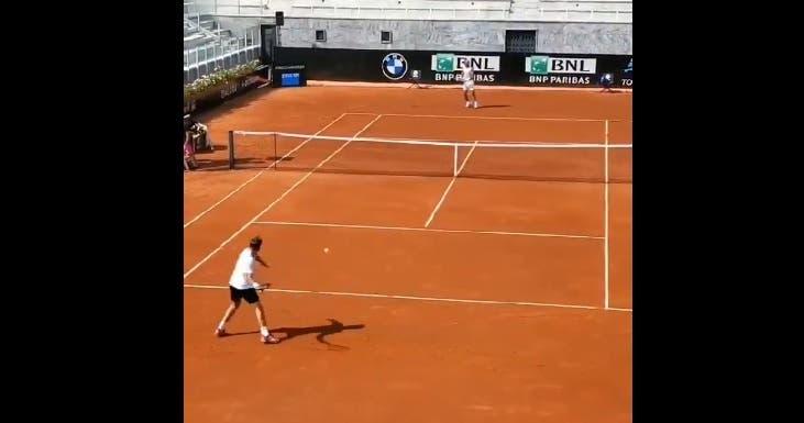 [VÍDEO] Nadal e Wawrinka já treinaram juntos… em Roma