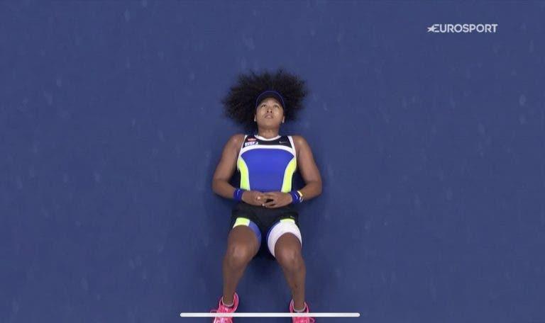 Osaka foi a primeira mulher a virar uma final US Open desde 1994