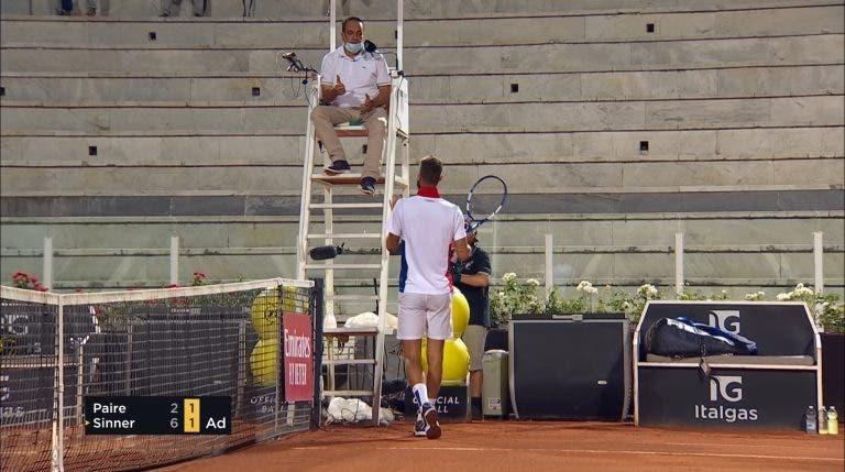 [VÍDEO] Paire com atitudes vergonhosas durante derrota na primeira ronda de Roma