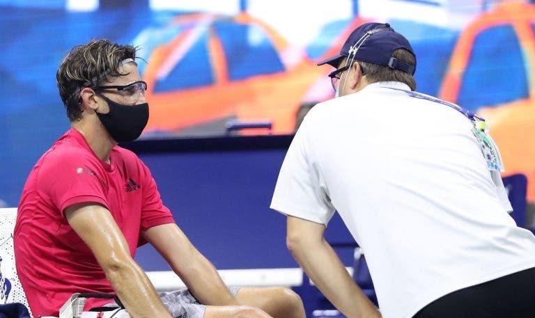 Thiem lesionou-se no pé direito mas joga a final do US Open