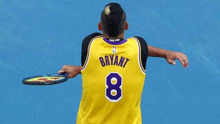 Kyrgios recorda morte de Kobe Bryant: «Foi um choque para mim»