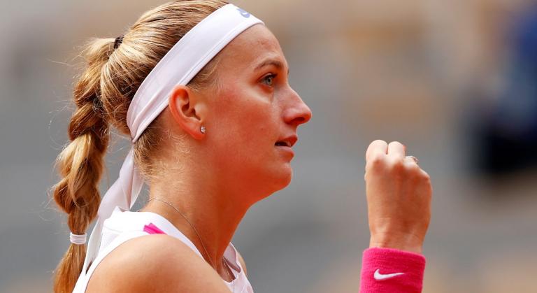 Kvitova nas meias-finais de Roland Garros pela primeira vez desde 2012