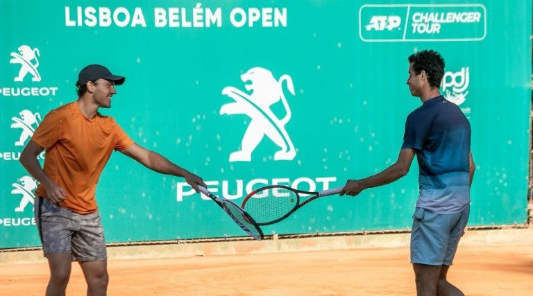 Gonçalo Oliveira na final de pares do Lisboa Belém Open
