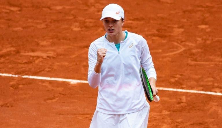 Swiatek revela estado de espírito no championship point em Roland Garros