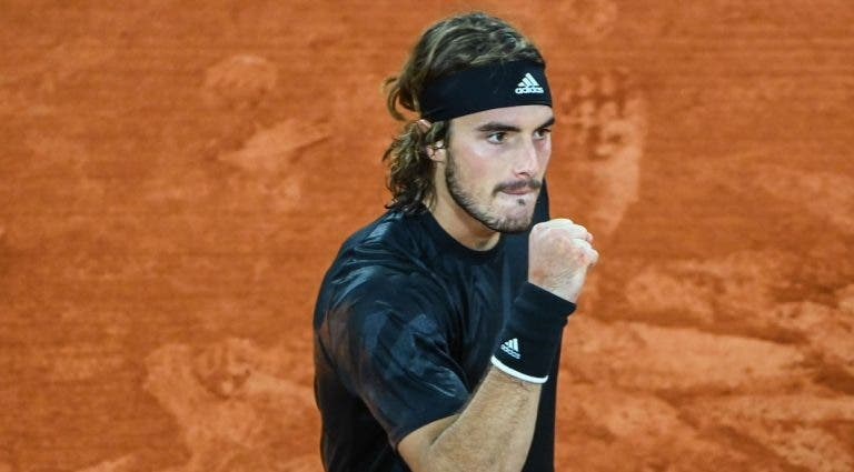 Tsitsipas joga muito e vai jogar as 'meias' de Roland Garros pela primeira vez