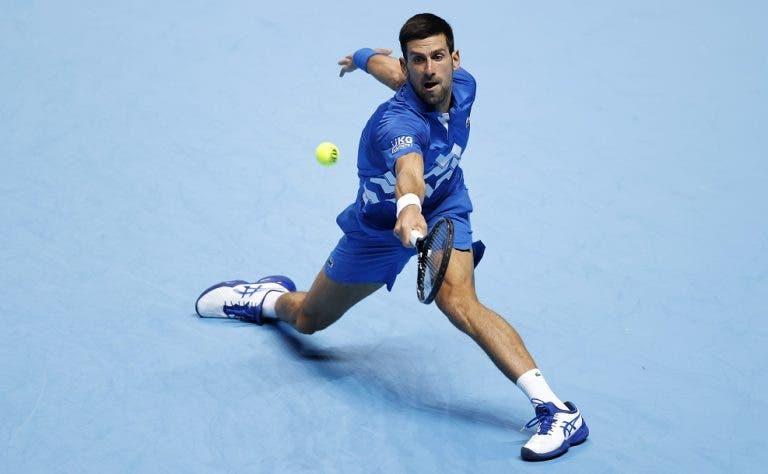 Djokovic derrota facilmente Schwartzman no seu 1.º encontro em Londres