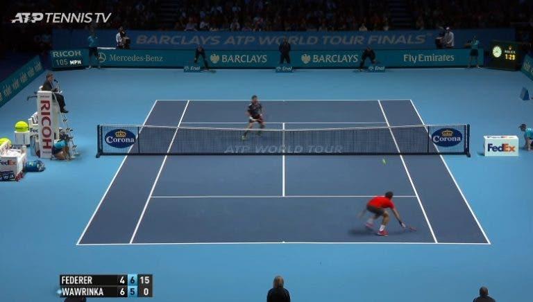 [VÍDEO] Este ano não há disto: os melhores pontos de Federer na O2 Arena