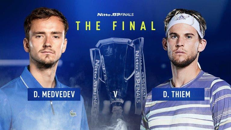 Thiem vs. Medvedev: onde e quando ver a final das ATP Finals