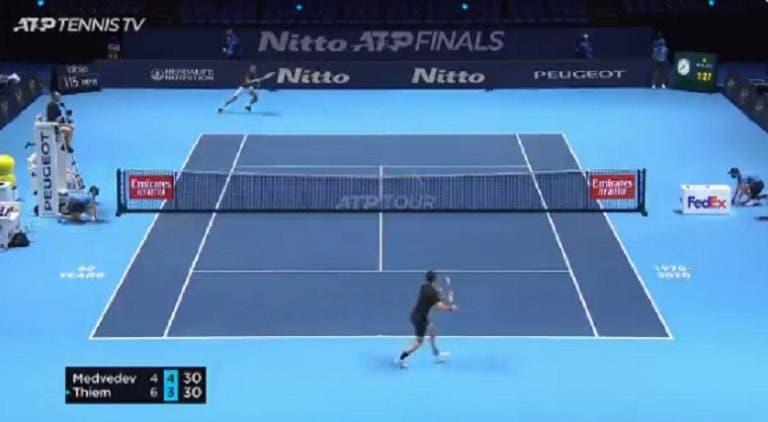 [VÍDEO] Final das ATP Finals está a ter muitos pontos… como este