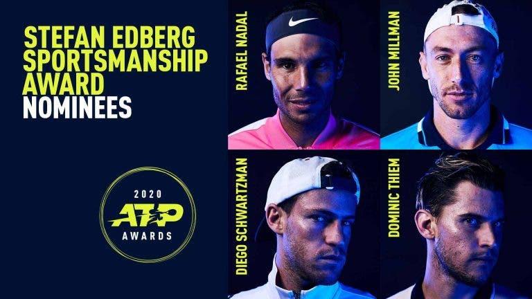 Todos os nomeados para os prémios ATP de 2020: do melhor jovem ao jogador com mais fair-play