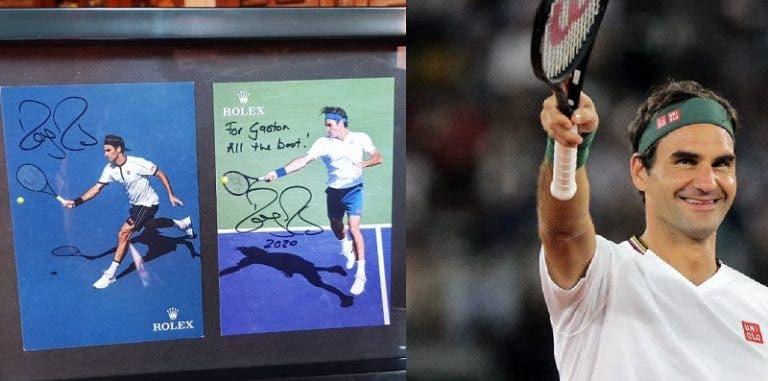 Grande gesto: Federer recebe carta de fã na sua casa e responde com uma surpresa