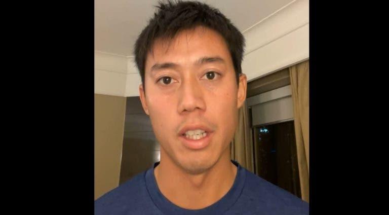 Nishikori está em quarentena intensa mas desdramatiza: «Temos de dar graça por haver torneio»