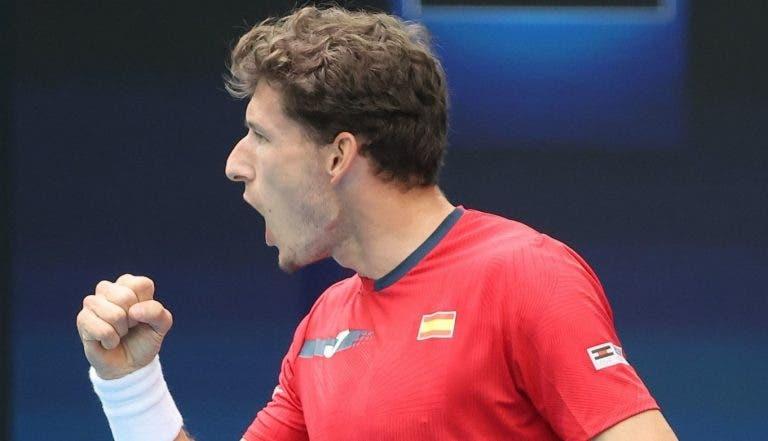 Espanha regressa às meias-finais da ATP Cup à boleia de Carreño Busta