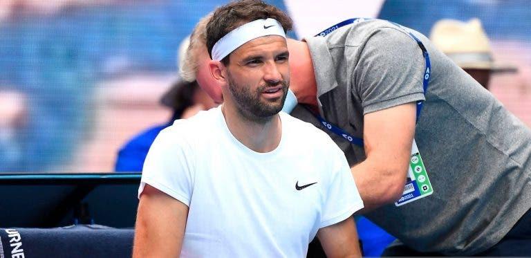 Dimitrov após derrota em Melbourne: «Nem consegui calçar as meias hoje»