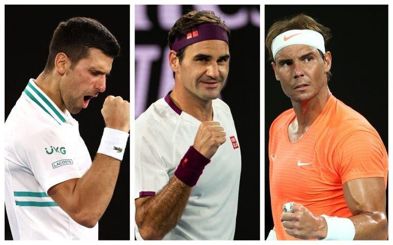 Sem Federer, Djokovic e Nadal: o registo impensável que não se via desde 2004