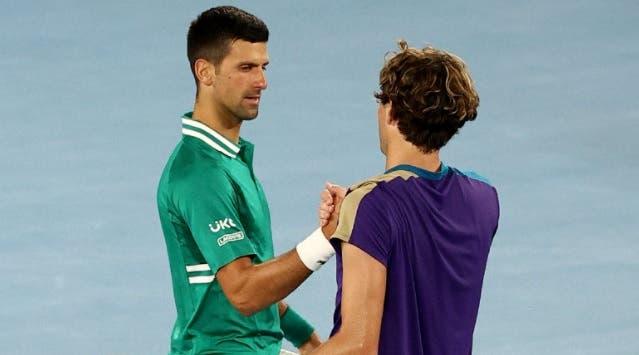 Fritz sobre a lesão de Djokovic: «De repente já estava a correr rápido»
