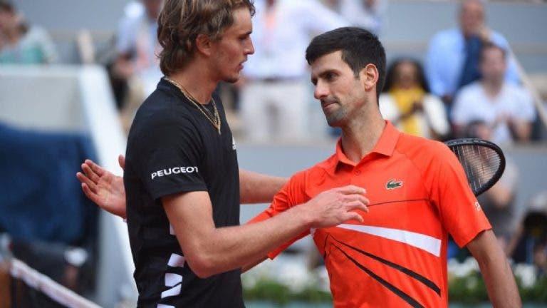 Zverev e o duelo com Djokovic: «É preciso outra mudança, tal como acontece com Federer e Nadal»
