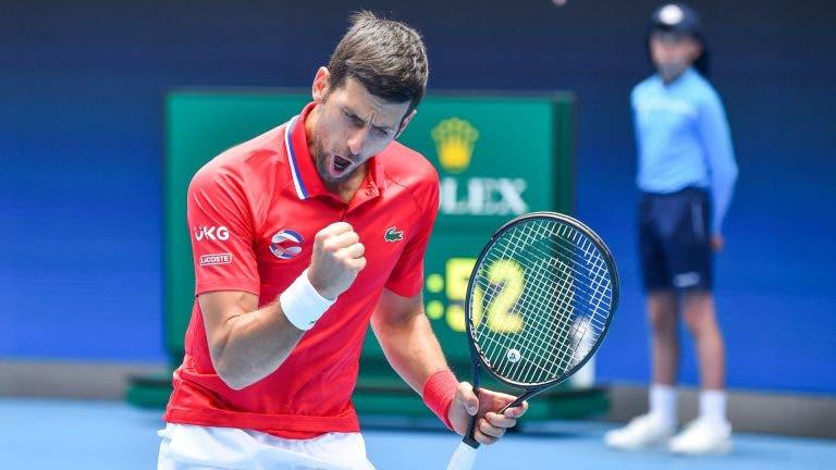 Djokovic brilha e a Sérvia derrota o Canadá na ATP Cup