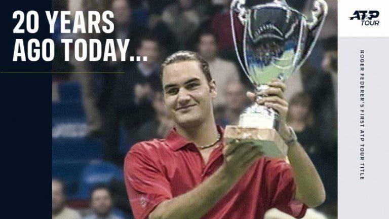 [VÍDEO] Federer conquistou o seu primeiro título ATP há precisamente 20 anos