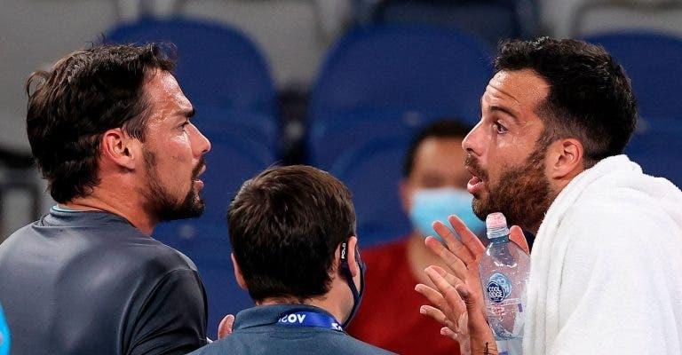 'Sortudo de mer…': o VÍDEO COMPLETO e tudo o que foi dito na discussão italiana no Australian Open
