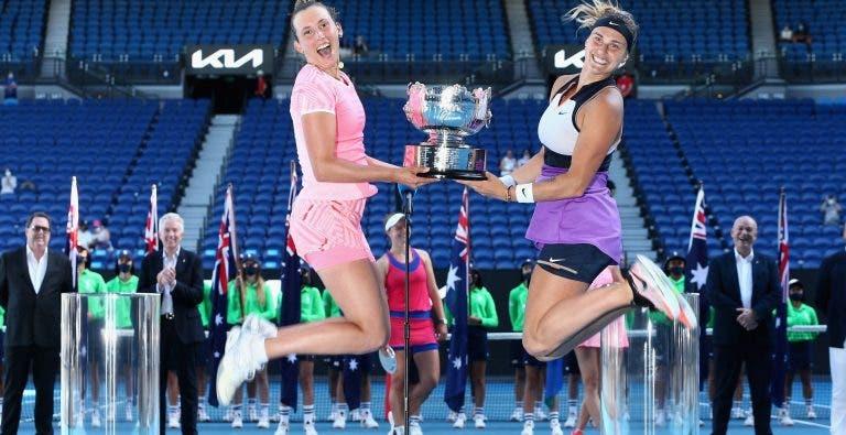 Sabalenka e Mertens conquistam título de pares no Australian Open… e suspendem parceria