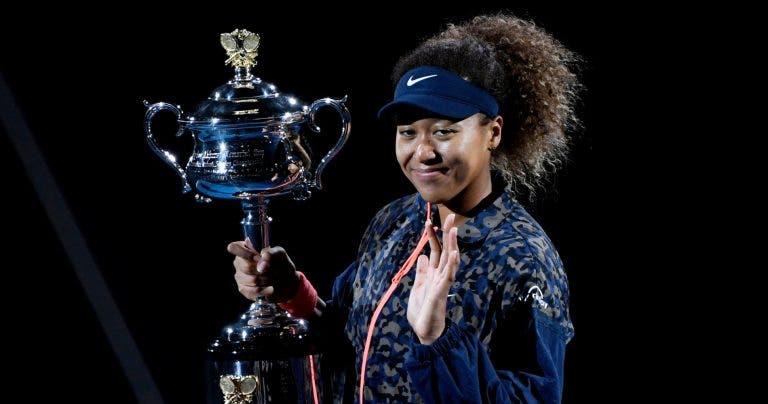 Como fica o top 10 WTA depois do título de Osaka no Australian Open