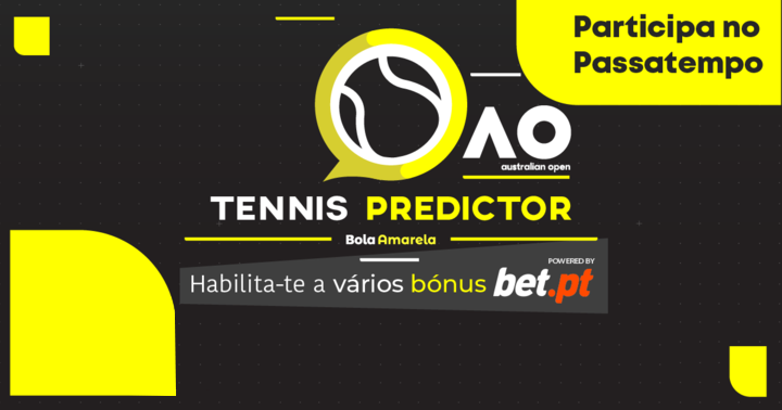 Australian Open Tennis Predictor está de volta com prémios bet.pt
