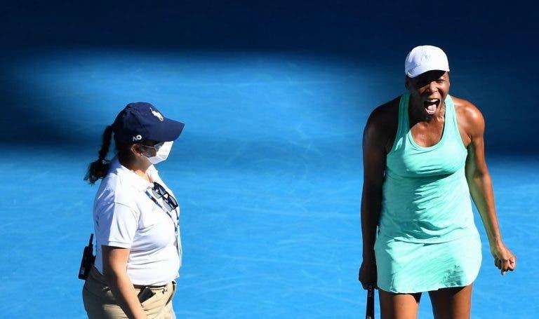 Venus Williams lesionou-se, foi eliminada mas mostrou a campeã que é