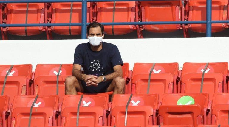 Federer foi ver com os seus olhos e já sabe o nome do primeiro rival