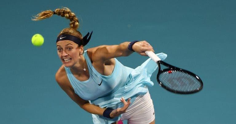 Kvitova continua a arrasar e só perde 58 minutos em court com Konta