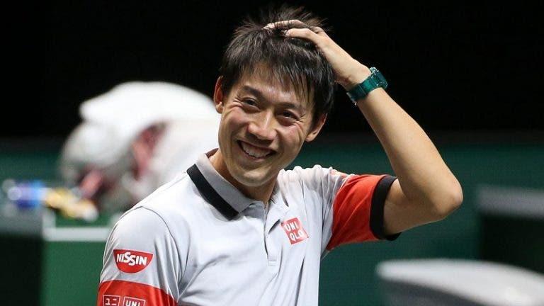 Nishikori continua afinado rumo aos quartos-de-final no Dubai