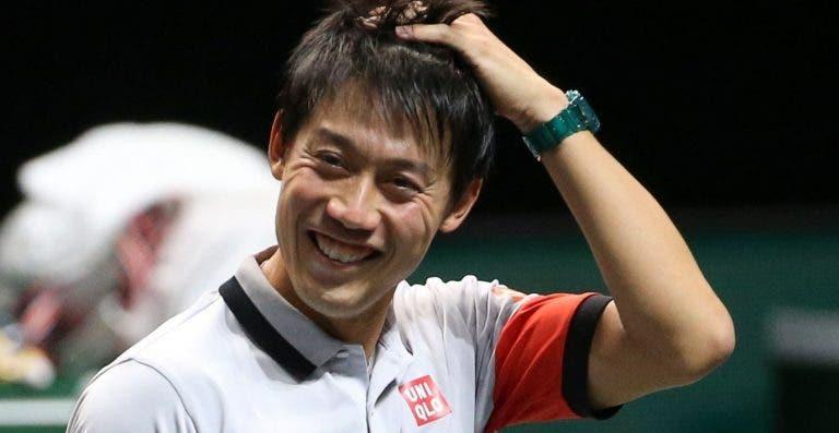 Nishikori vence duelo fantástico e volta a uns 'quartos' 18 meses depois