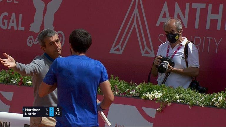 Martínez irritou-se com… fotógrafo e Carlos Ramos teve de se meter no meio