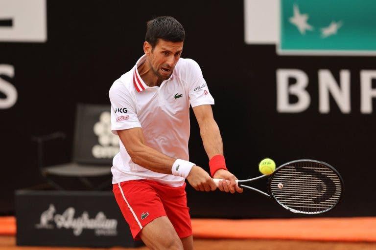 Djokovic dá master class e está nos 'quartos' de Roma pela 15.ª vez em… 15 participações