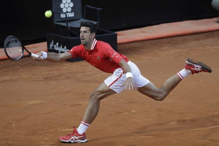 Djokovic supera resistência de Sonego e marca 57.ª batalha com Nadal na final de Roma