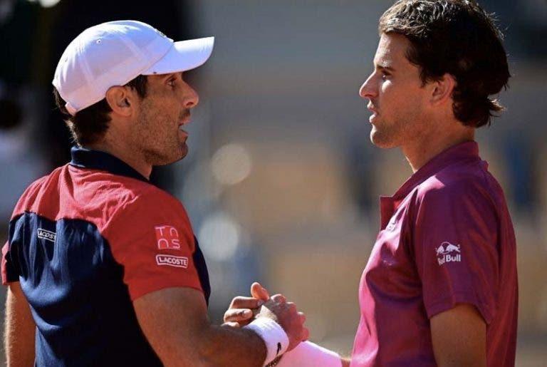 Thiem sem palavras após eliminação de Roland Garros: «Não me reconheço a mim mesmo»