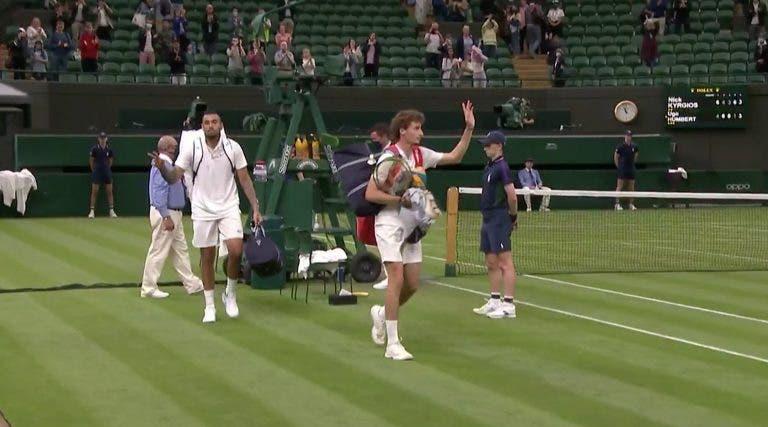 Batalha brutal entre Kyrgios e Humbert interrompida devido ao ultrapassar da hora legal em Wimbledon