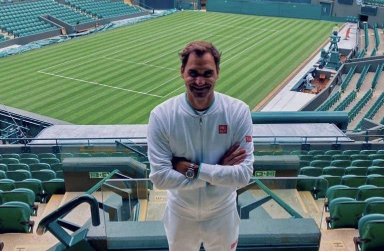 Federer de volta a 'casa': «É hora de Wimbledon e estou tão entusiasmado!»