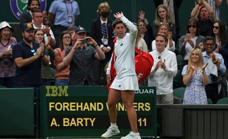 Carla Suárez Navarro teve despedida emocionante em Wimbledon com a mãe presente: «Foi perfeito»