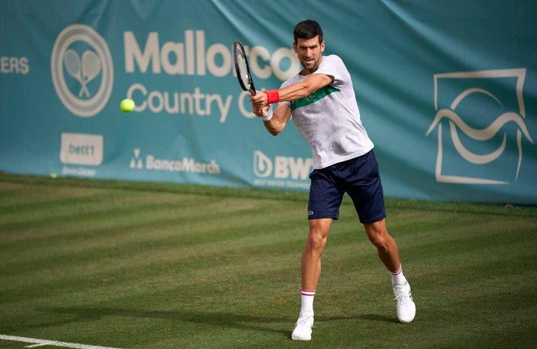 Novak Djokovic defronta Feliciano López esta sexta-feira em Maiorca