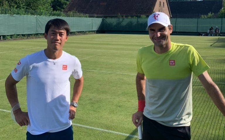 [VÍDEO] Roger Federer já treina na relva de Halle