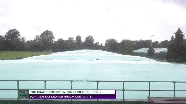 Primeiro dia do qualifying de Wimbledon totalmente cancelado pela chuva