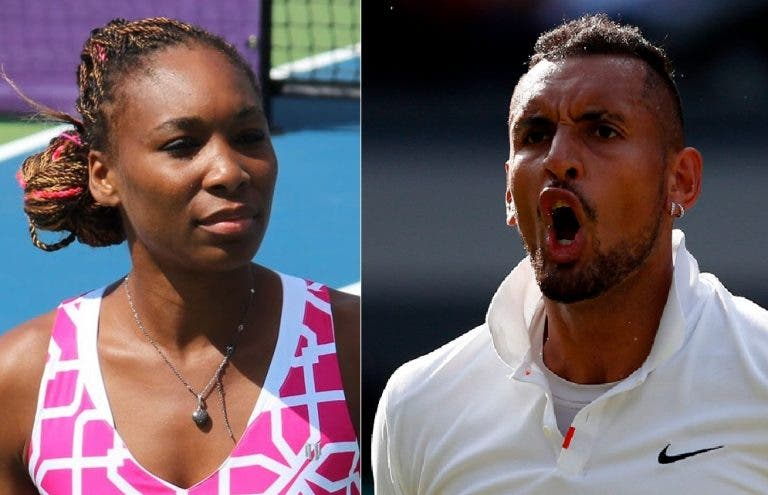 Amigos improváveis! Kyrgios junta-se a Venus Williams nos pares mistos em Wimbledon