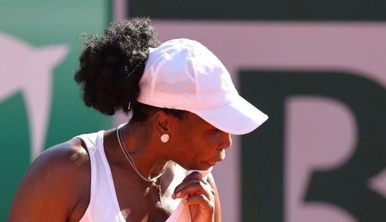 Venus Williams eliminada em 56 minutos na sua 24.ª participação em Roland Garros