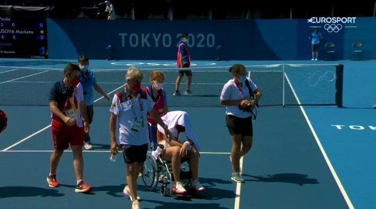Arrepiante: Badosa colapsou com o calor e abandonou Jogos de cadeira de rodas