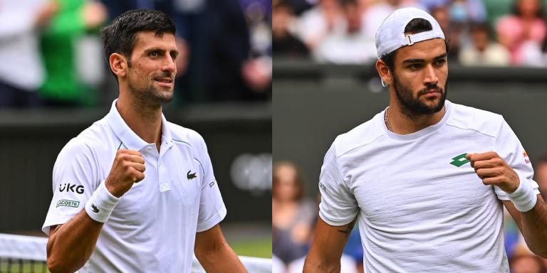 As cinco chaves para Berrettini conseguir surpreender Djokovic na final de Wimbledon