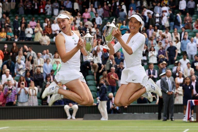 Hsieh e Mertens salvam championship points e fecham final épica com título em Wimbledon