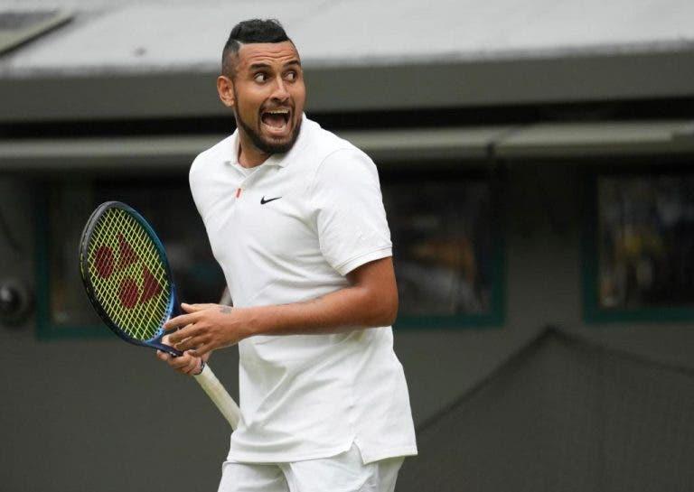 Kyrgios dispensa drama e segue para a terceira ronda de Wimbledon ao tiro… e on fire!